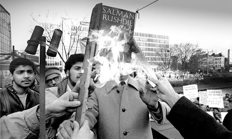 Image result for MP Keith Vaz burning effigy of rushdie