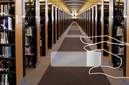 Library-bookmark-navigation-through-the-library