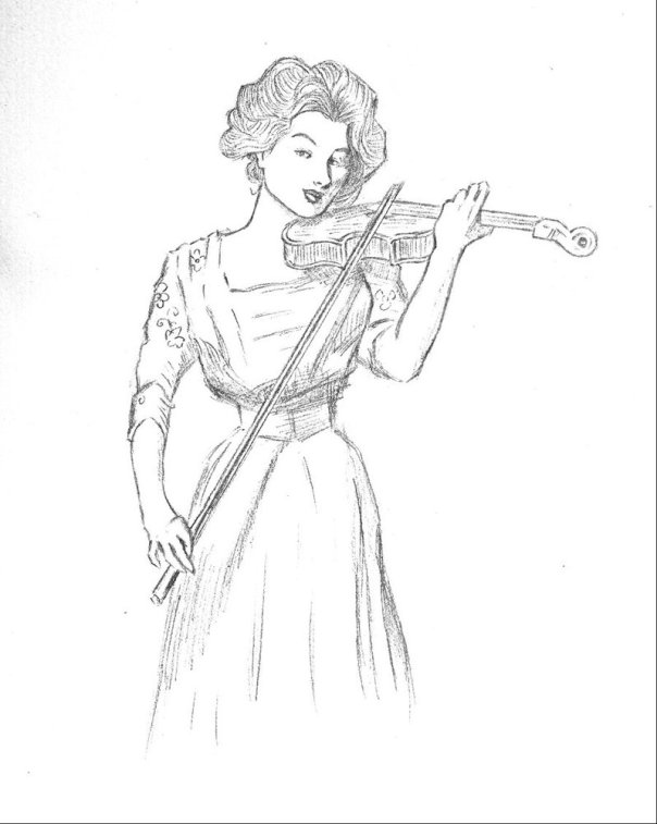 gibson_girl_with_violin_by_limelicker-d3kinag