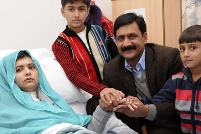 Malala new picture at hospital