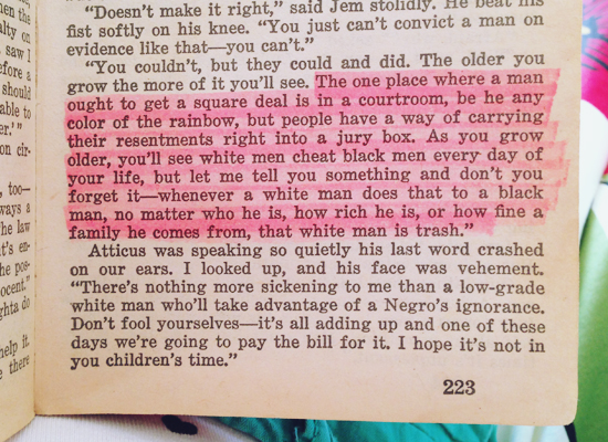 to kill a mockingbird in color